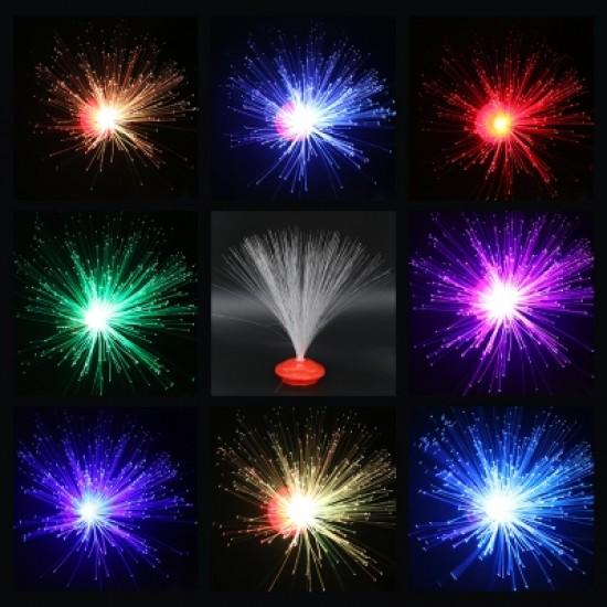 Color Changing LED Fiber Optic Night Light Home Decoration Light